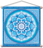 THROAT CHAKRA BLUE MEDITATION TEMPLE BANNER WALL HANGING