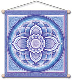 THIRD EYE CHAKRA BLUE MEDITATION TEMPLE BANNER WALL HANGING