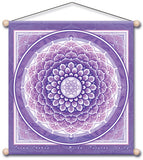 CROWN CHAKRA VIOLET MEDITATION TEMPLE BANNER WALL HANGING