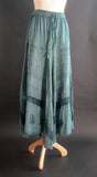 SOLID RAYON FLAIR SKIRT TEALISH GREEN