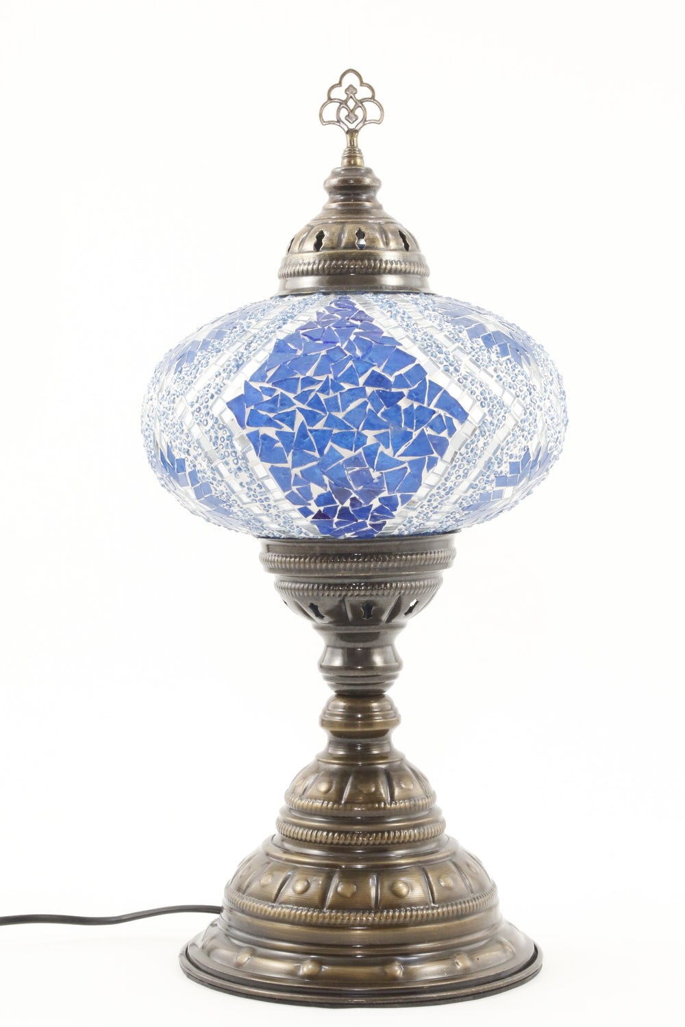 TURKISH MOSAIC TABLE LAMP MB4 BLUE-TURNED OFF