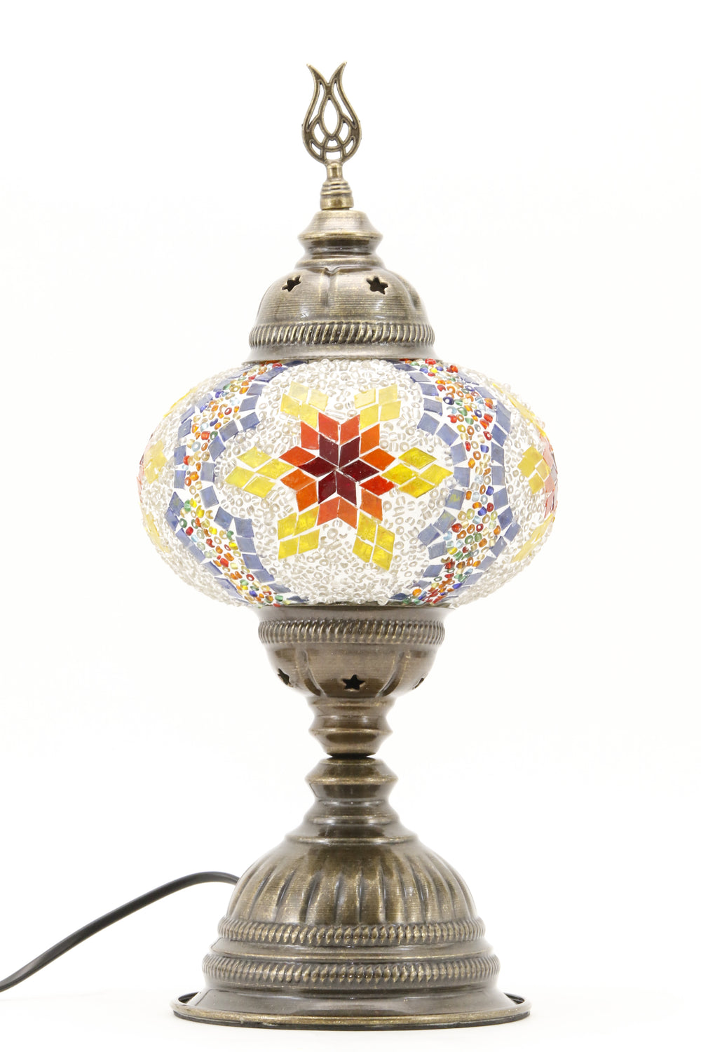 TURKISH MOSAIC TABLE LAMP MB3 RAINBOW-TURNED OFF