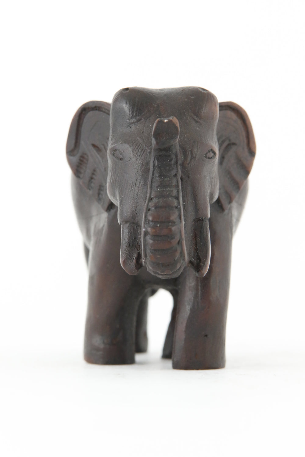 ELEPHANT WALKING STATUE DARK FRONT VIEW
