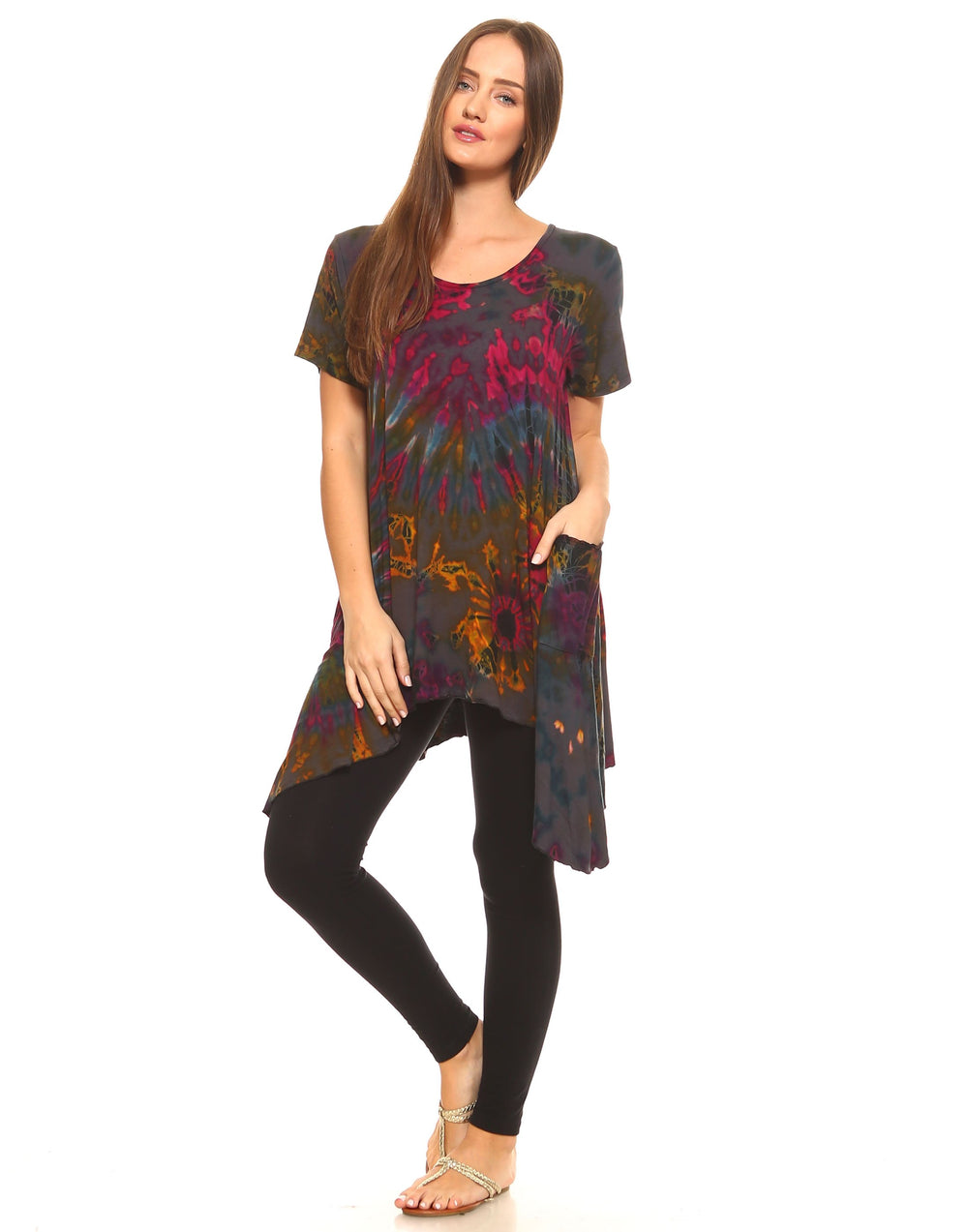 TIE DYE TUNIC TOP-SIDE SAIL