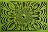 YIN YANG SPIDER WEB TAPESTRY LIME GREEN