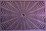 YIN YANG SPIDER WEB TAPESTRY PURPLE