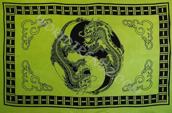 Yin Yang Dragon Tapestry no tassels