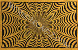 YIN YANG SPIDER WEB TAPESTRY YELLOW