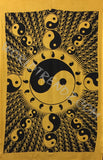 YIN YANG SUN BUBBLE TAPESTRY YELLOW