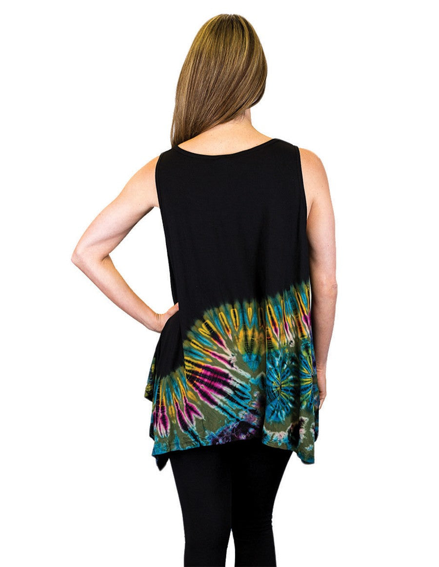 HALF TIE DYE KERCHIEF TOP SLEEVELESS BACK