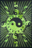 YIN YANG SUN BUBBLE TAPESTRY POSTER SIZE GREEN