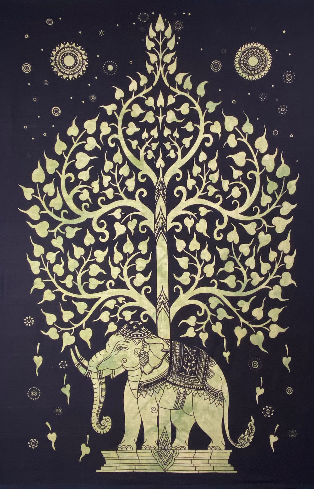 ELEPHANT BODHI TREE POSTER SIZE GREEN