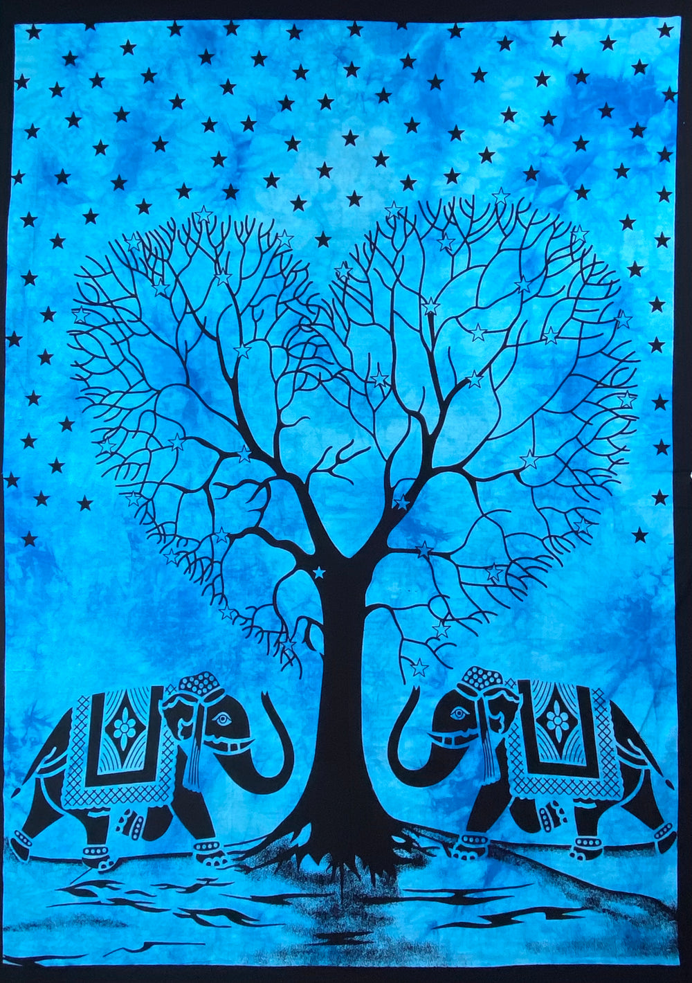 HEART SHAPE TREE OF LIFE TAPESTRY POSTER SIZE TURQUOISE
