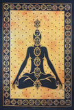 CHAKRA TAPESTRY POSTER SIZE YELLOW