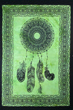 DREAMCATCHER TAPESTRY POSTER SIZE GREEN