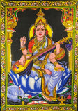 DEITY TAPESTRY SEQUINED SARASWATI