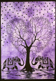 HEART SHAPE TREE OF LIFE TAPESTRY POSTER SIZE PURPLE
