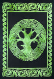 CELTIC TREE OF LIFE POSTER SIZE GREEN
