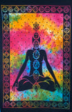 CHAKRA TAPESTRY POSTER SIZE RAINBOW