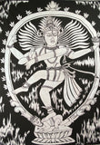 SHIVA DANCE POSE TAPESTRY POSTER SIZE WHITE