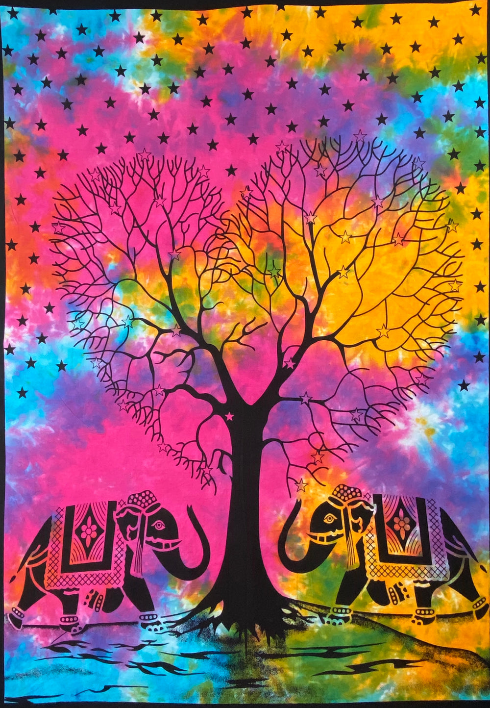 HEART SHAPE TREE OF LIFE TAPESTRY POSTER SIZE MULTI
