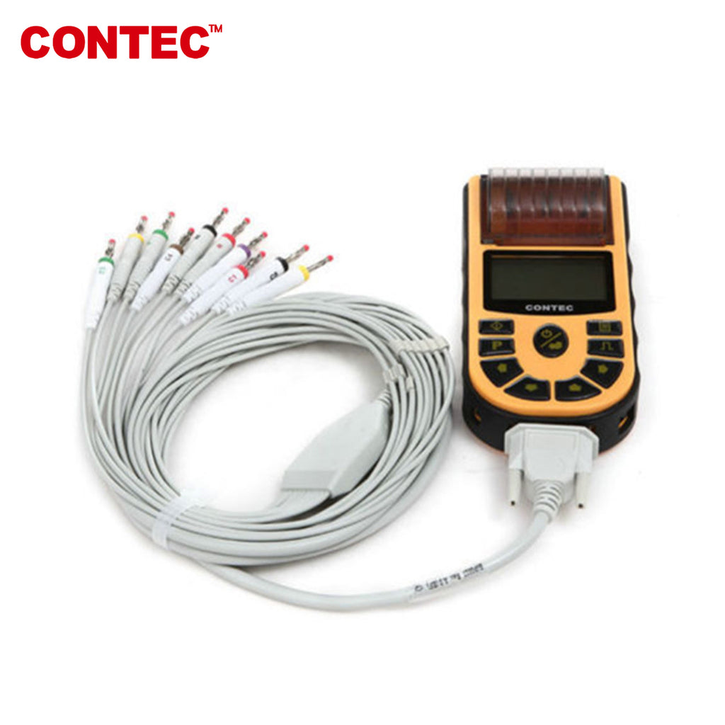 CONTEC ECG80A Digital one-Channel 12-lead ECG/EKG Machine Electrocardiograph+USB - contechealth