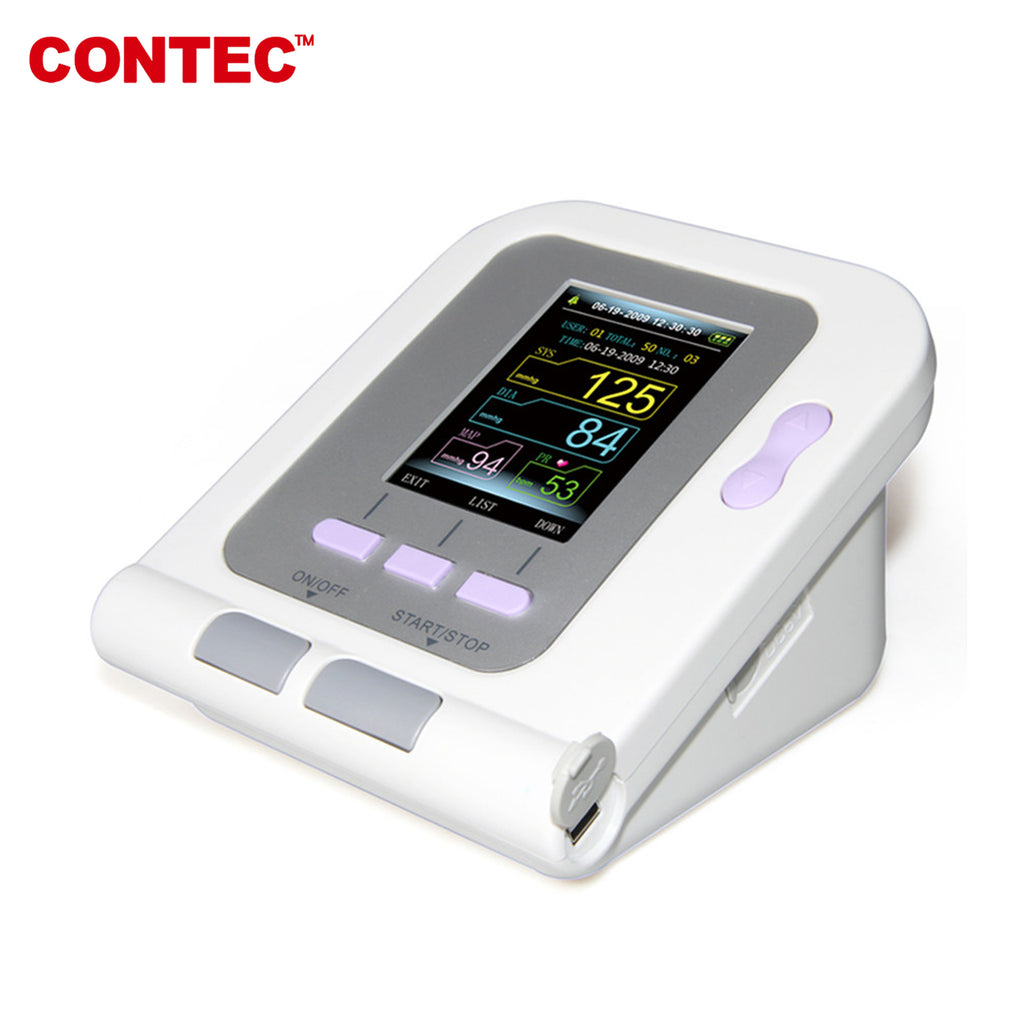 CONTEC CONTEC08A Digital Blood Pressure Monitor Machine Upper Arm sphygmomanometer, USB - contechealth