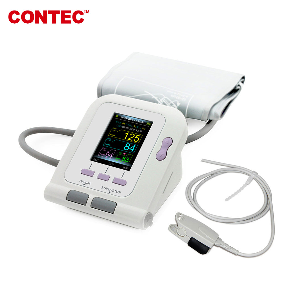 US stock CONTEC Digital Blood pressure monitor Contec08A+SPO2 Sensor with Adult cuff - CONTEC