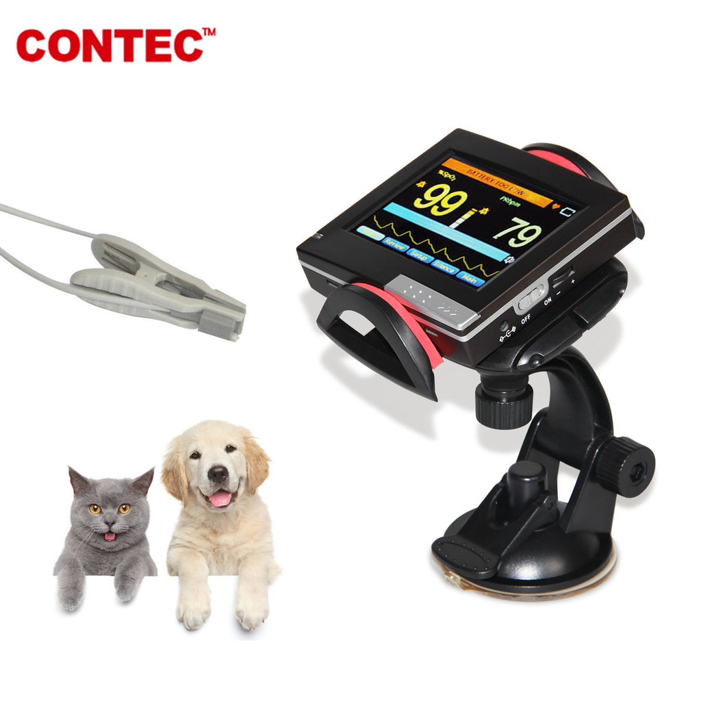Veterinary Pulse Oximeter,Patient Monitor PM60A+vet Probe,Spo2 Probe,Animal CONTEC - CONTEC