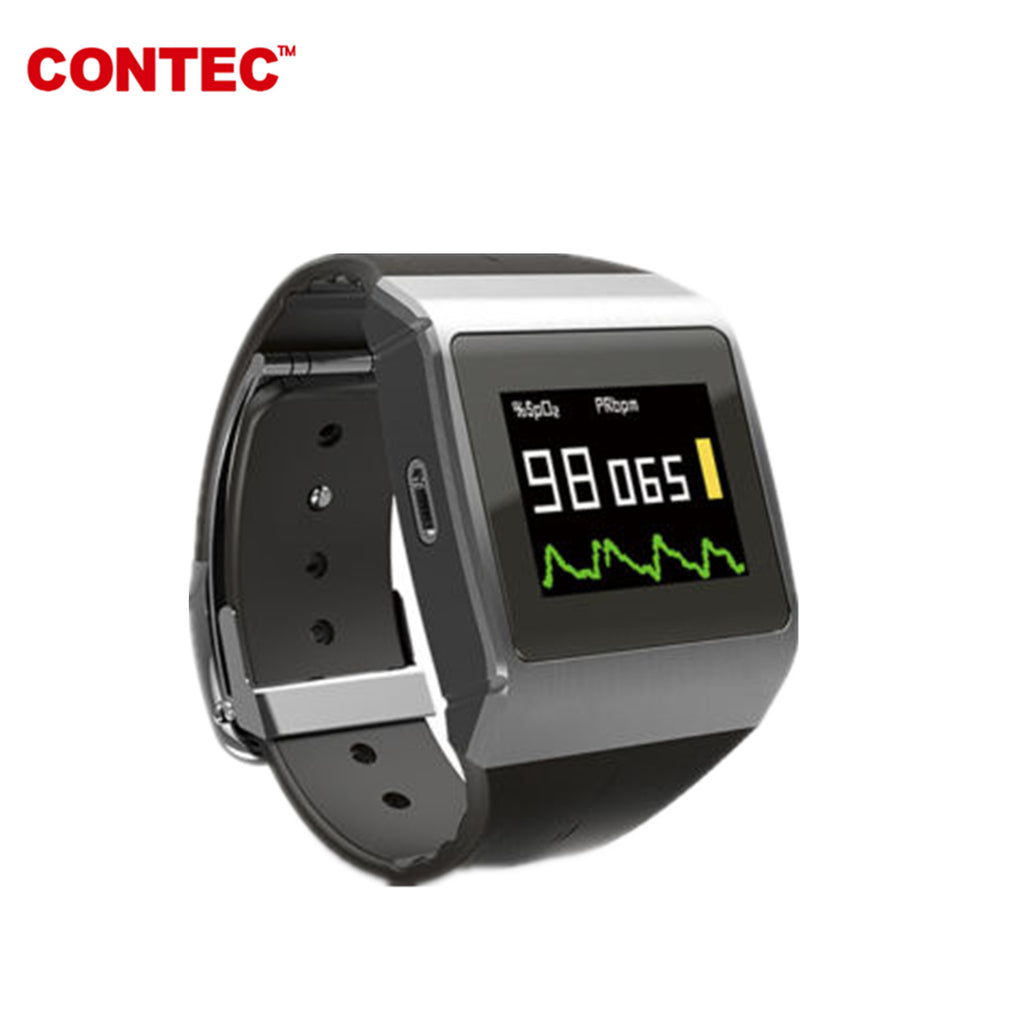 CONTEC Watch CMS50K Wearable SpO2, PR, ECG,pedometer,clock Monitor - contechealth
