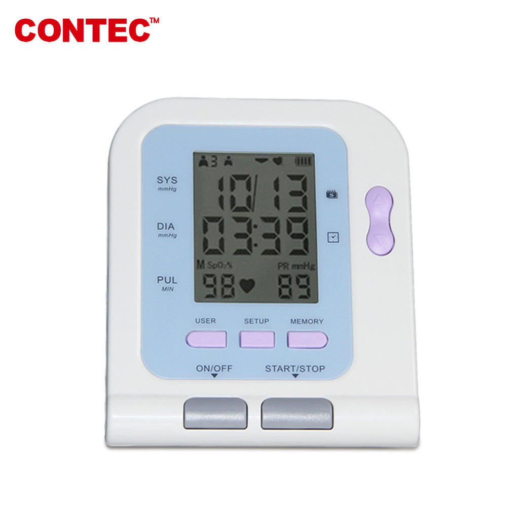 CONTEC08C Desktop Digital Blood Pressure Monitor, LCD+Adult Cuff CONTEC - CONTEC