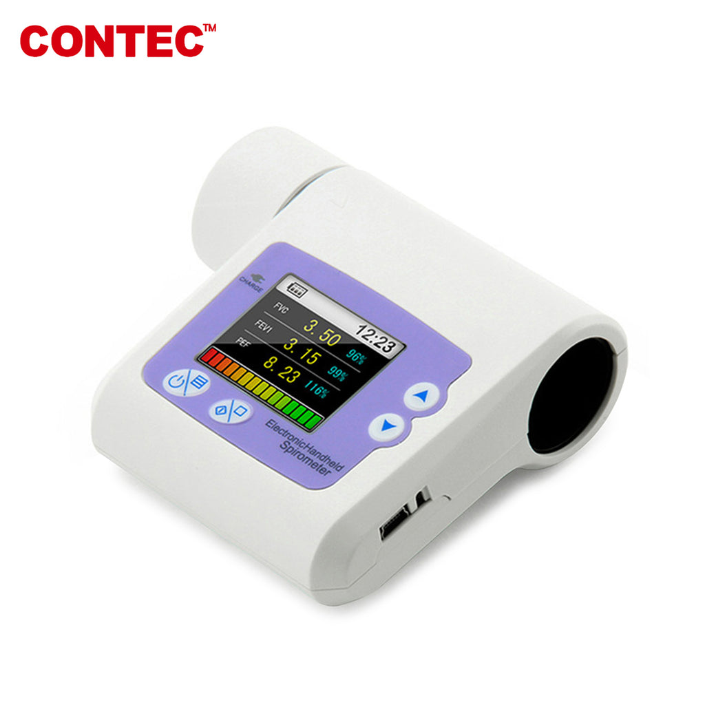 CONTEC SP10 Pulmonary Function Lung Volume Check Spirometer,USB+PC Software - contechealth