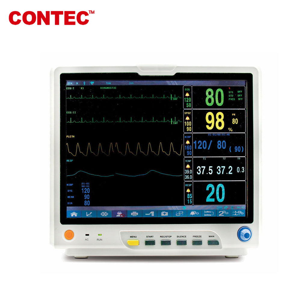 "15"" CONTEC CMS9200 PLUS Multi-Parameter ICU CCU Patient Monitor Touch Screen - contechealth"