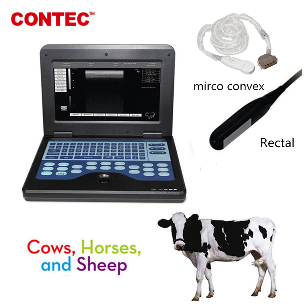 CMS600P2VET Veterinary Ultrasound Scanner Laptop Machine,Horse/Cow Rectal and mirco convex 2 probes - contechealth