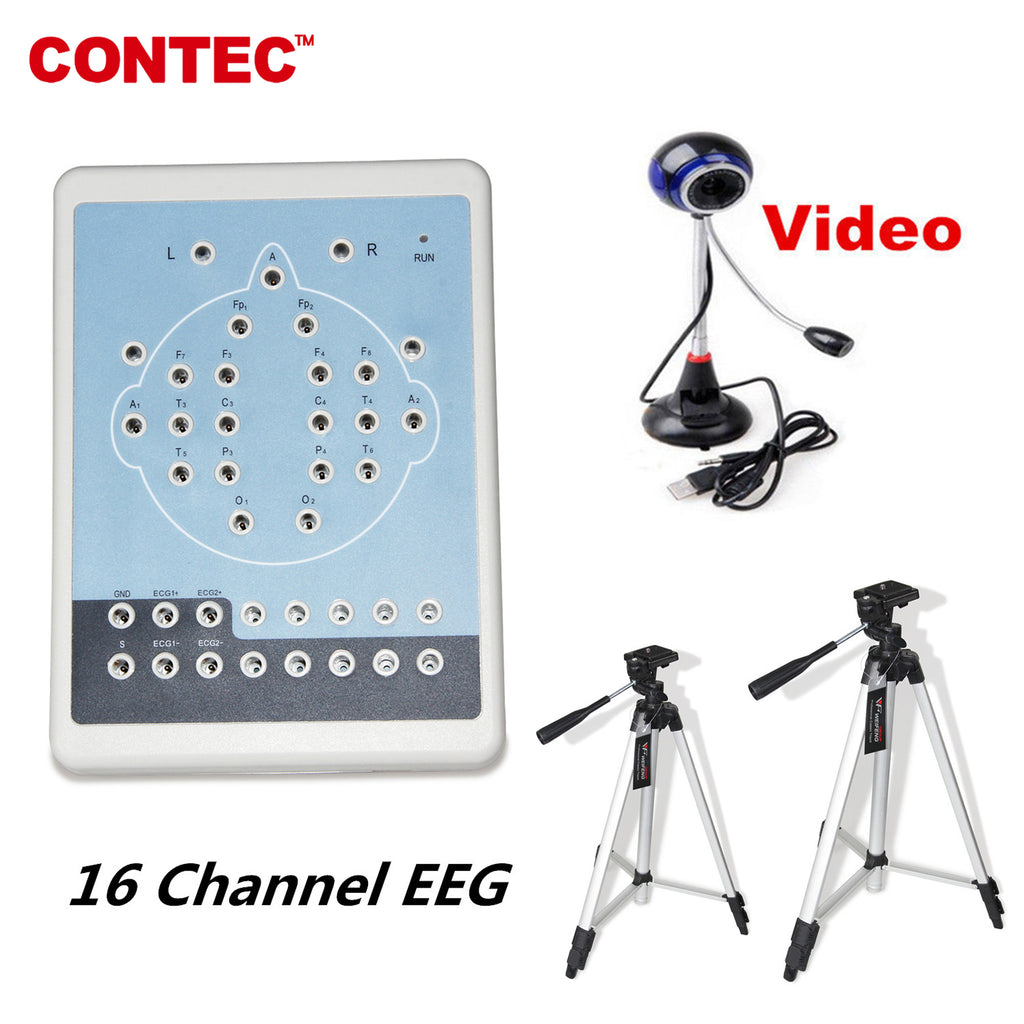 CONTEC KT88-1016 Digital 16-Channel EEG Machine& Mapping Systems,Video camera+ Software - CONTEC