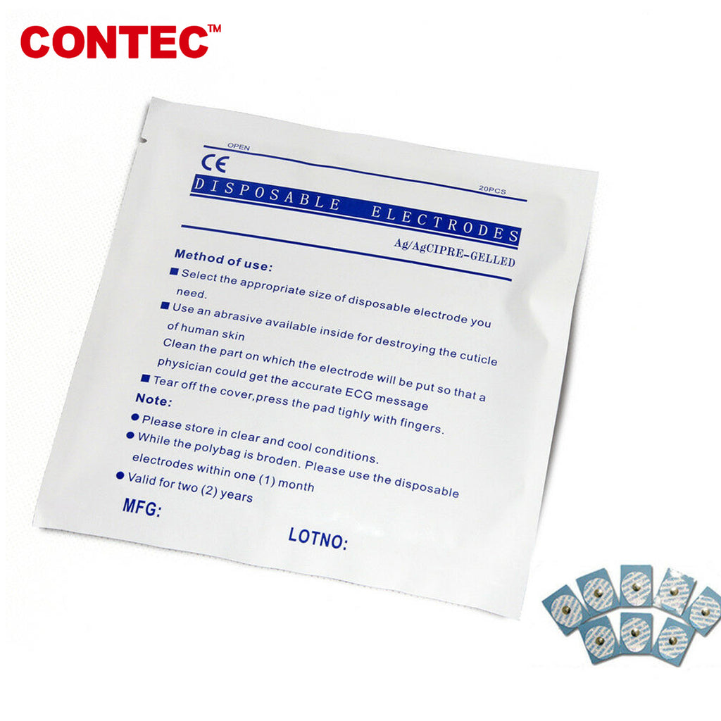 Electrodes For CONTEC Patient monitor,ECG/EKG Disposable Electrodes,100PCS - contechealth