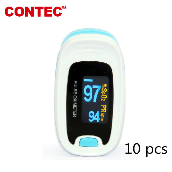 10pcs CONTEC CMS50NA OLED Fingertip Pulse Oximeter Spo2 Monitor Pulse Rate Promotion