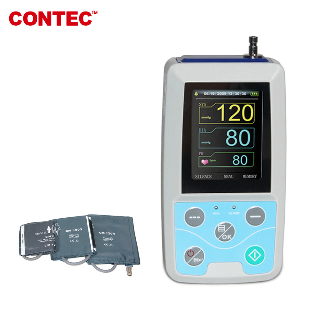 ABPM50  24H Ambulatory Blood Pressure Monitor with 3 cuffs child+adult+large adult - contechealth