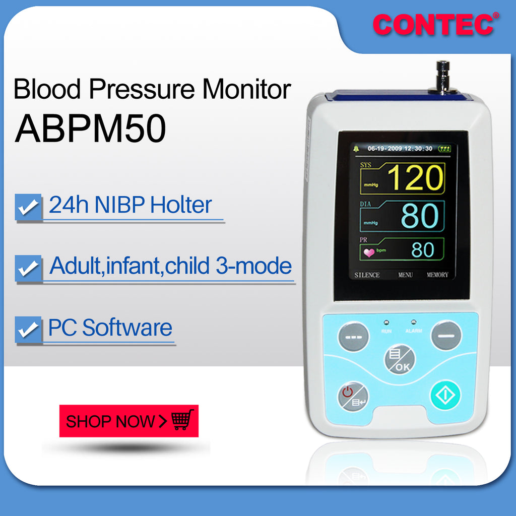 ABPM50  24H Ambulatory Blood Pressure Monitor with 3 cuffs child+adult+large adult