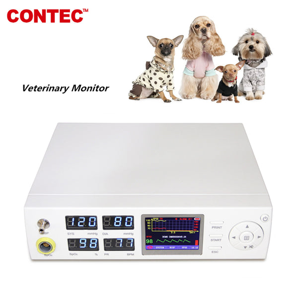 CONTEC CMS5000VET Veterinary Monitor SpO2 NIBP PR animal tongue clip SpO2 probe - contechealth