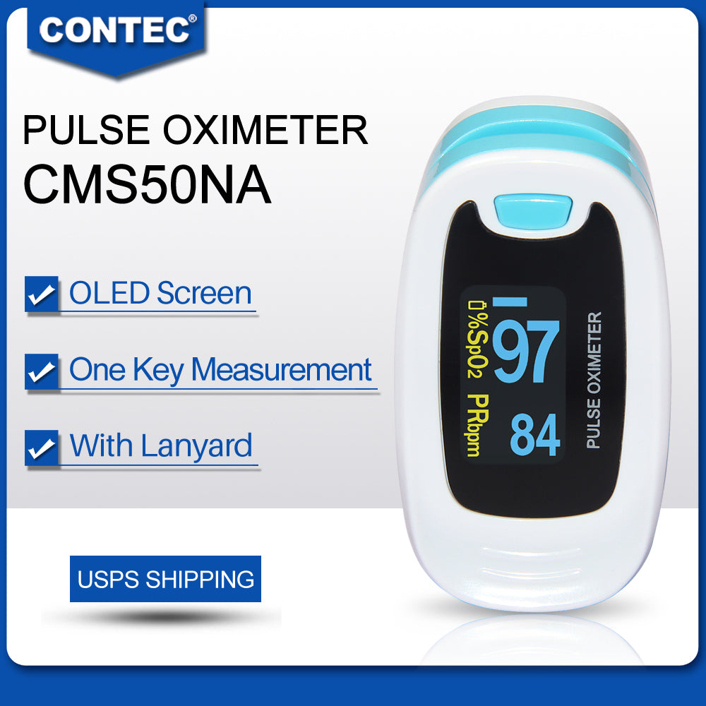 10pcs CONTEC CMS50NA OLED Fingertip Pulse Oximeter Spo2 Monitor Pulse Rate Promotion - CONTEC