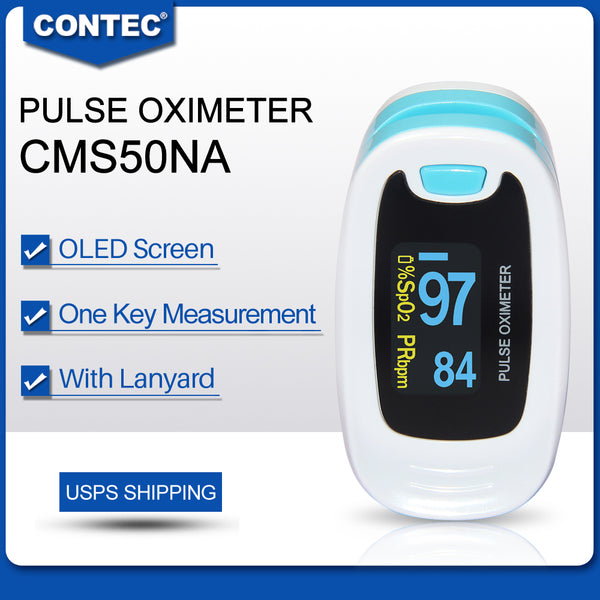 500pcs CMS50NA Finger Tip Pulse Oximeter Blood Oxygen meter SpO2 Heart Rate Monitor Saturation - CONTEC