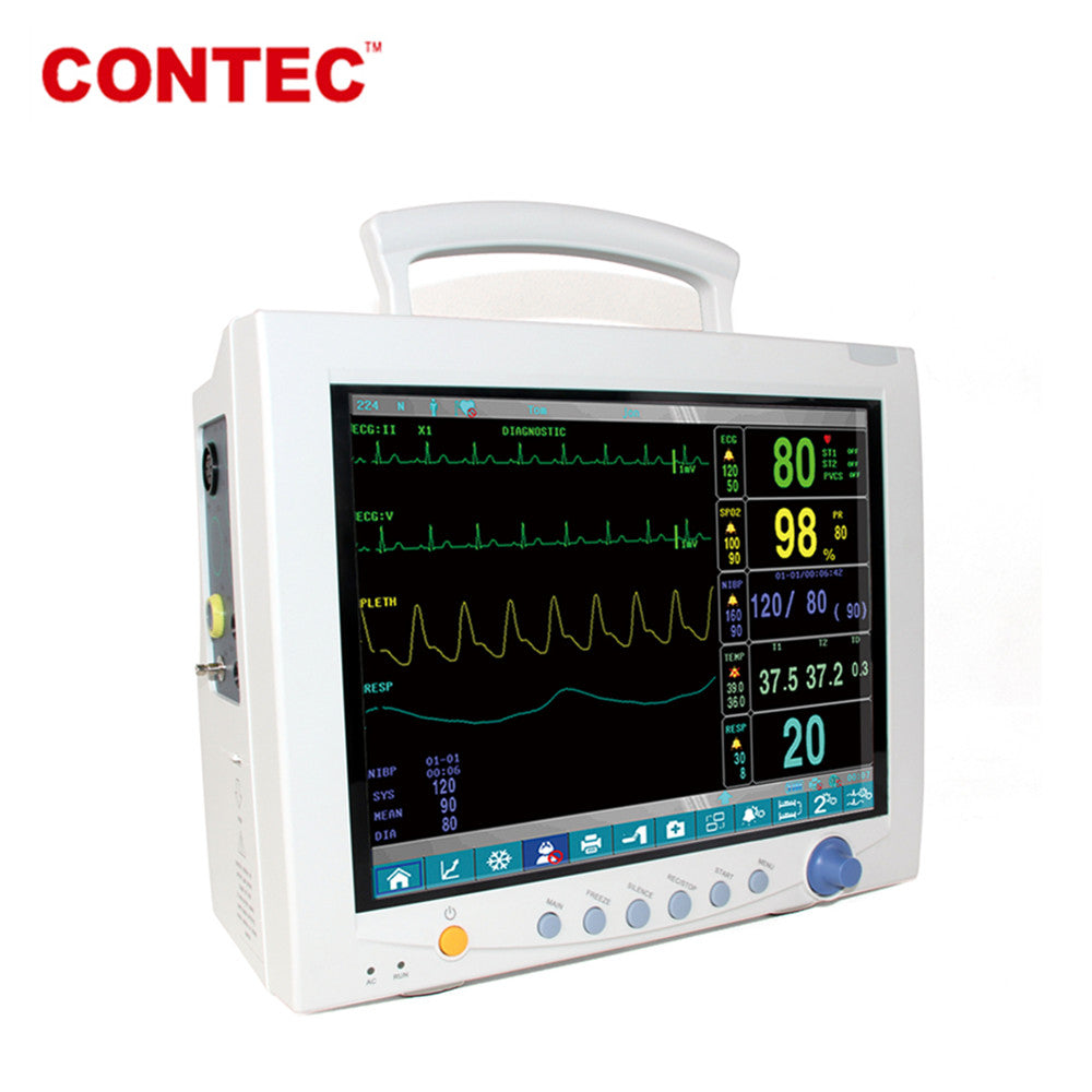 CMS7000 Portable Vital Signs ICU Patient Monitor 6-Parameter, CONTEC CE& FDA - contechealth