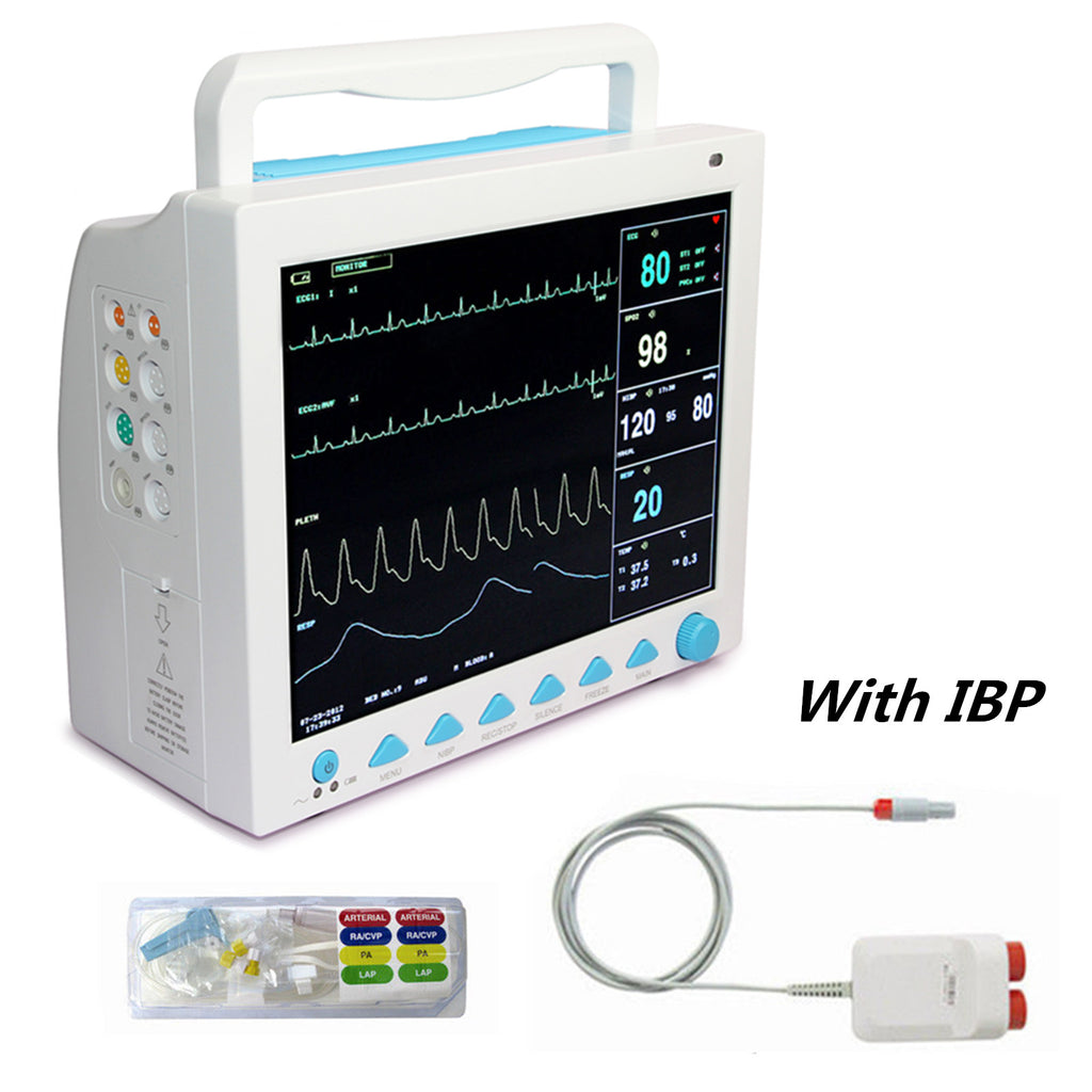 12.1 inch Portable ICU/CCU CMS8000 Patient Monitor Vital Signs 6-Parameter + IBP