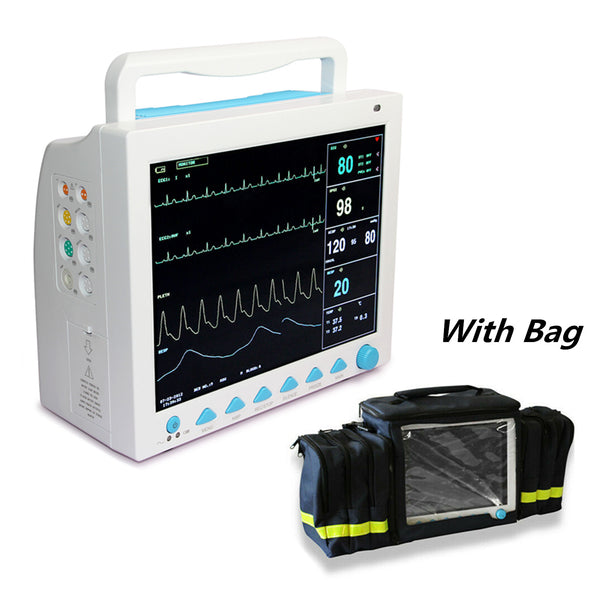 CONTEC  CMS8000 6 parameters ICU CCU LCD Patient Monitor multi-language with Bag
