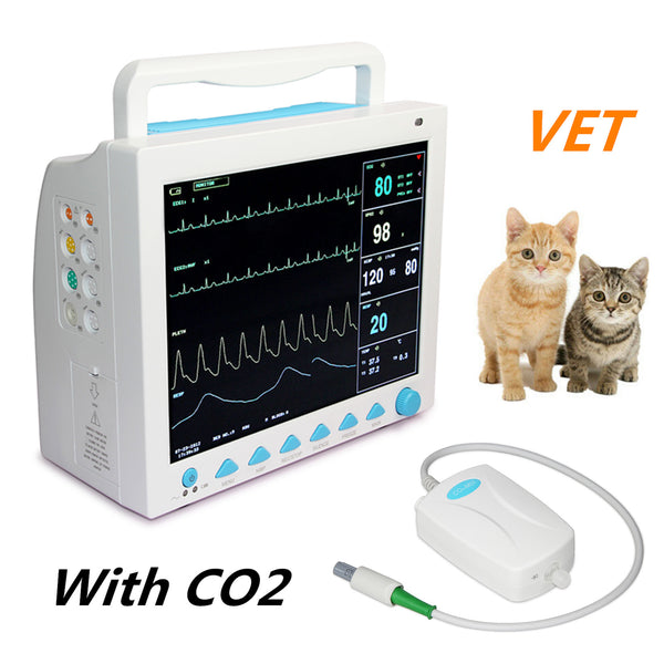 CMS8000VET Veterinary Patient Monitor Capnograph Vital Signs 7 parameter +ETCO2