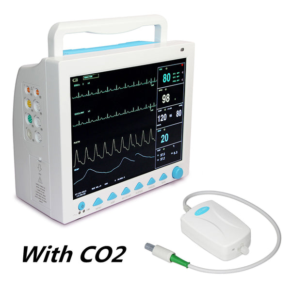 CMS8000 With Capnograph CO2 Patient Monitor ETCO2 Vital Signs 7 Parameters,CONTEC