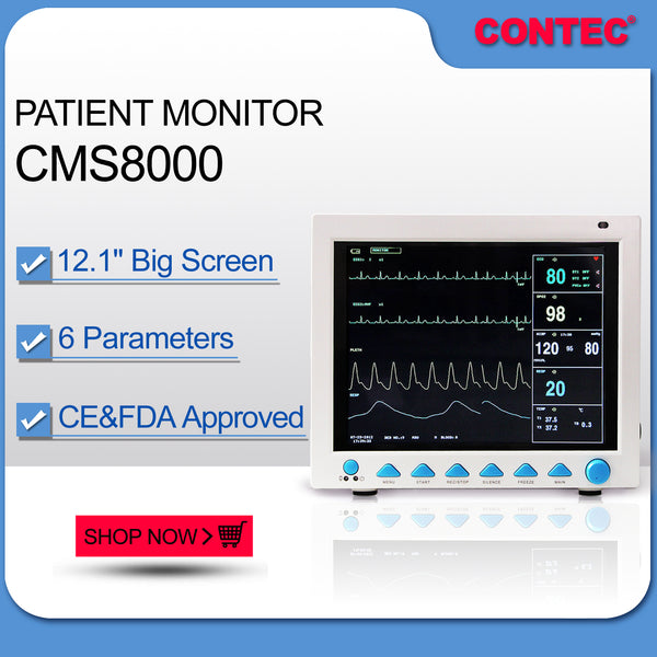 CONTEC FDA&CE ICU CCU Vital Signs Patient Monitor,6 Parameters CMS8000
