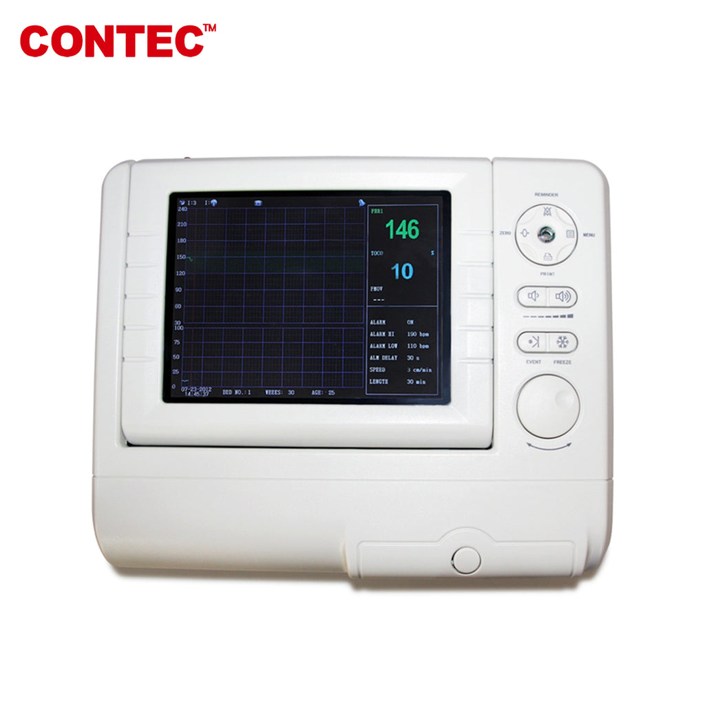 Fetal Monitor FHR,Fetal move Mark,TOCO Ultrasound probe Li-Battery CMS800G1 - contechealth