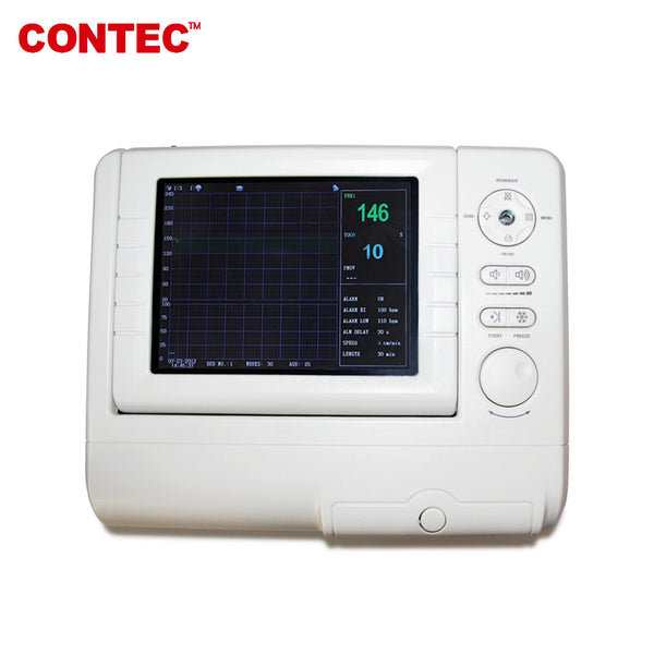 Fetal Monitor FHR,Fetal move Mark,TOCO Ultrasound probe Li-Battery CMS800G1 - CONTEC